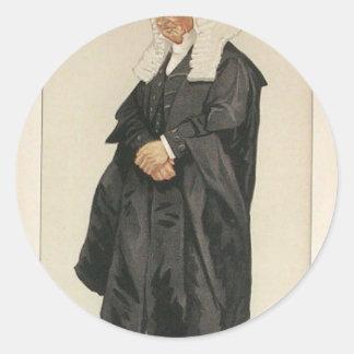 Statesmen No.1290 Caricature of The Rt Hon HBW Classic Round Sticker