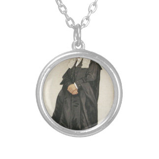 Statesmen No.1290 Caricature of The Rt Hon HBW Round Pendant Necklace