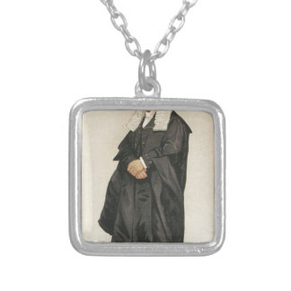 Statesmen No.1290 Caricature of The Rt Hon HBW Square Pendant Necklace