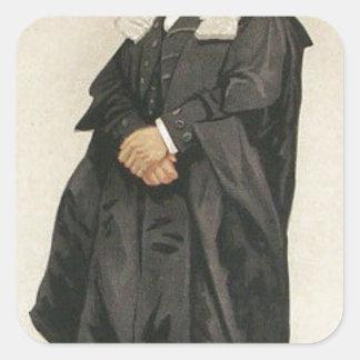 Statesmen No.1290 Caricature of The Rt Hon HBW Square Sticker
