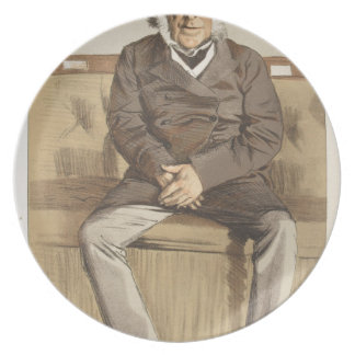 Statesmen No.920 Caricature of the Rt Hon Russell Melamine Plate