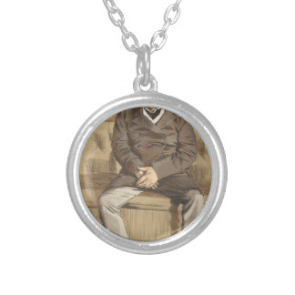 Statesmen No.920 Caricature of the Rt Hon Russell Round Pendant Necklace