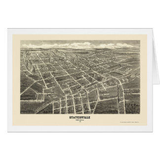 Statesville, NC Panoramic Map - 1907 Greeting Card