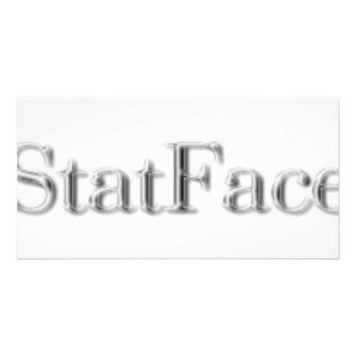 StatFace Platinum Photo Card