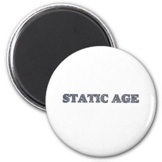 Static Age White Noise 2 Inch Round Magnet
