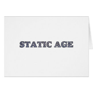 Static Age White Noise Card