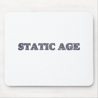 Static Age White Noise Mouse Pad