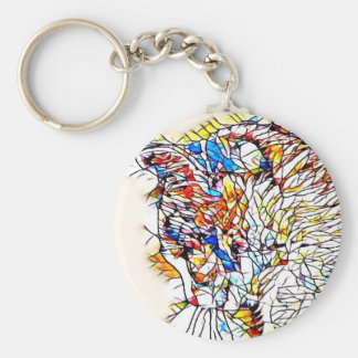 Static Cat Keychain
