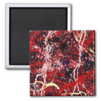 STATIC CHARGE (an abstract art design) ~ 2 Inch Square Magnet