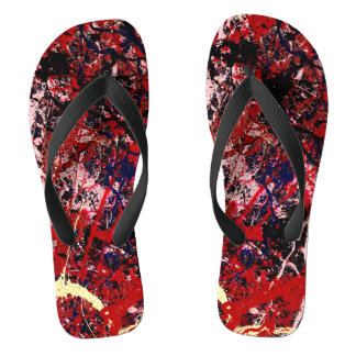 STATIC CHARGE (an abstract art design) ~ Flip Flops