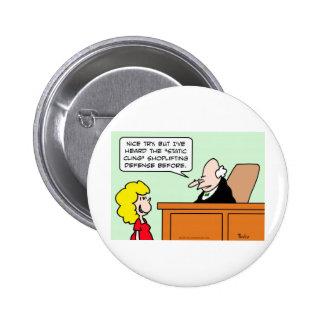 static cling shoplifting defense judge pins