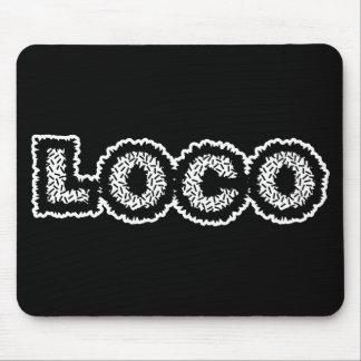 Static Loco - Black & White Mouse Pad