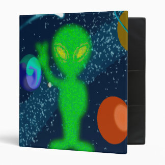 Static Peace Space Alien 3 Ring Binder