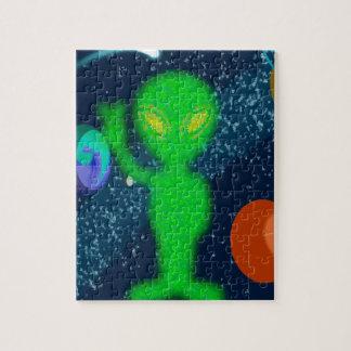 Static Peace Space Alien Puzzle