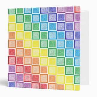 Static Rainbow Squares Binder
