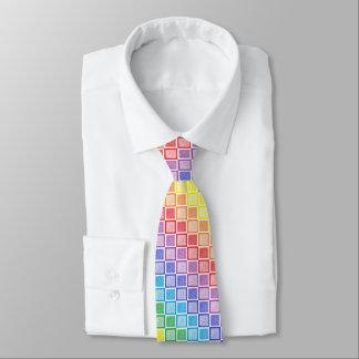 Static Rainbow Squares Neck Tie
