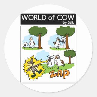 Static Sheep Round Stickers