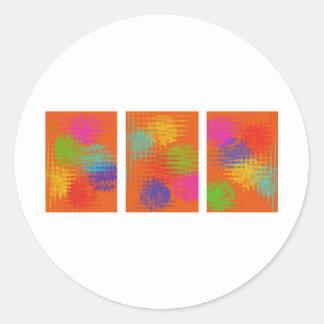 Static Round Stickers