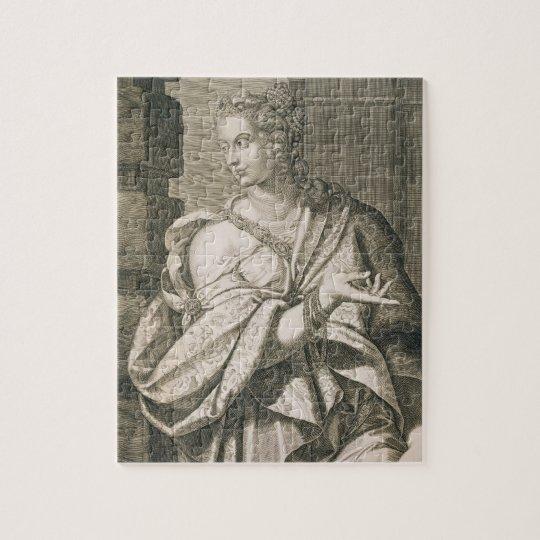 Statilia Messalina third wife of Nero (engraving) Jigsaw Puzzle