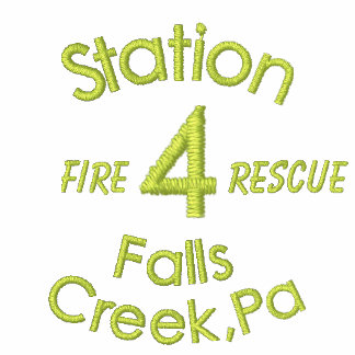 Station, 4, Falls Creek,Pa, Fire, Rescue-Hoodie Hoodies