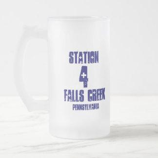 Station, 4, Falls Creek, Pennsylvania-Frosted Mug