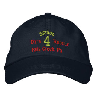 Station 4-Firefighter Hat-Embroidered Baseball Cap