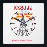 "Station Clock for Ham Radio Operators<br><div class=""desc"">This attractive clock is customizable with your clal,  and features 24 hour format and graphics. A fine edition to your ham shack! 73 de Gary k8jcr</div>"