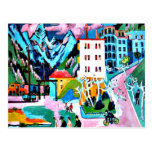 Station in Davos, Ernest Ludwig Kirchner painting Post Card