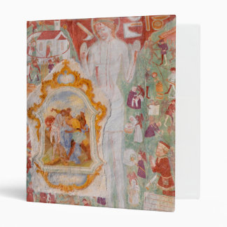 Station of the Cross Fresco on St. Jacob Church 3 Ring Binder