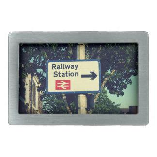 Station Sign Belt Buckle