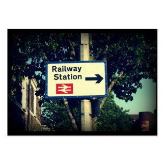 Station Sign Large Business Card