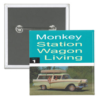 Station Wagon Living 2 Inch Square Button