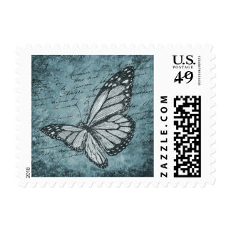 Stationary butterfly stamp