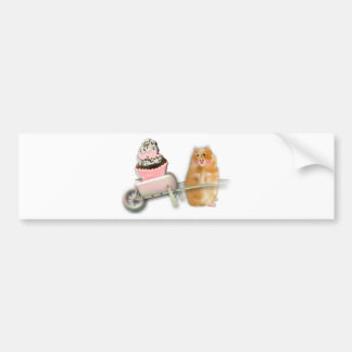 Stationary Cutte Illustration Bumper Stickers
