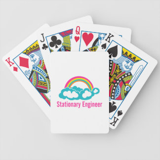Stationary Engineer Cloud Rainbow Bicycle Playing Cards