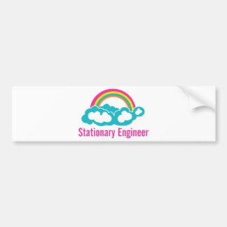 Stationary Engineer Cloud Rainbow Bumper Sticker