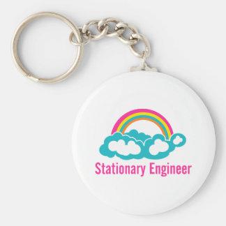 Stationary Engineer Cloud Rainbow Keychain
