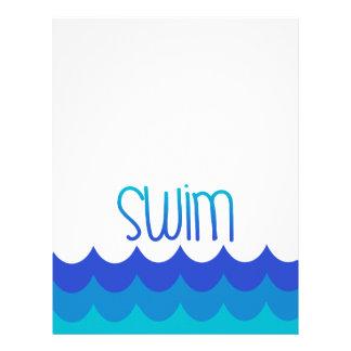 Swimming Pool Letterhead Zazzle