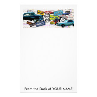 Stationary - Route 66_Classic Cars Stationery