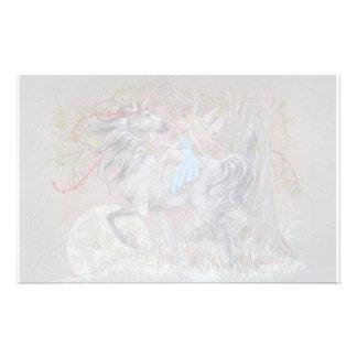 Stationary - Unicorn Valentine Custom Stationery