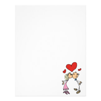 Stationary Valentine's Day Couple Letterhead