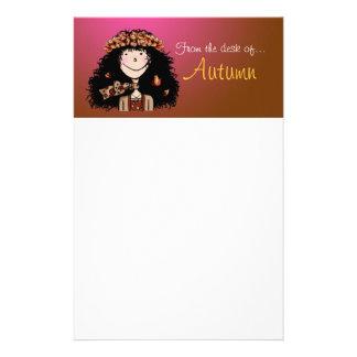 Stationery, Autumn Girl Stationery