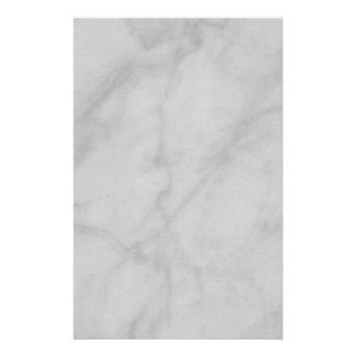 Stationery--Black & White Marble Stationery