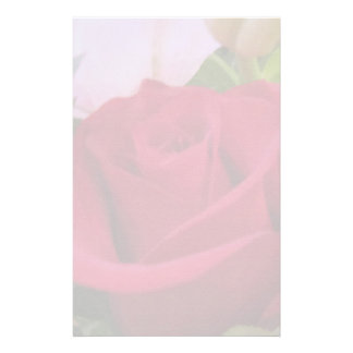 Stationery--Blurred Red Rose Stationery