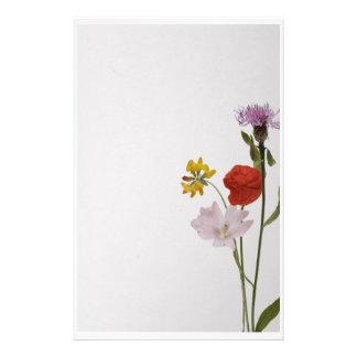 Stationery colorful flowers papeleria de diseño