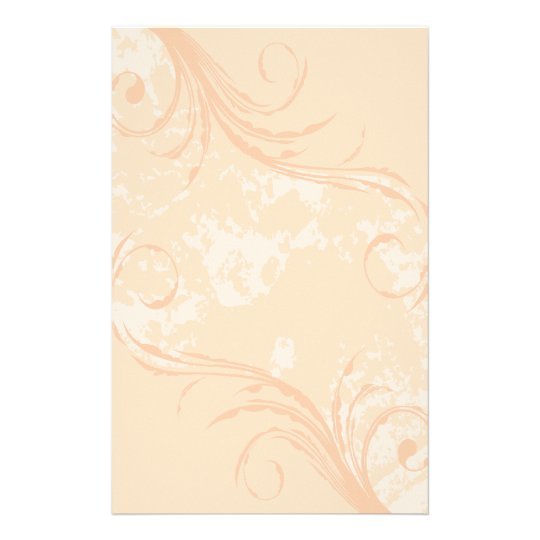 Stationery: Creamsicle Swirl Stationery