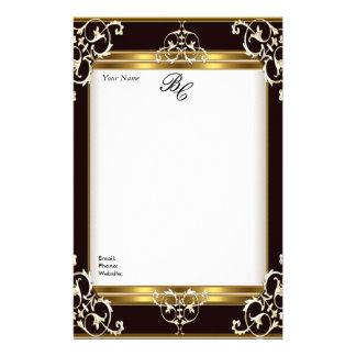 Stationery Elegant Gold White Black Elite Stationery Design