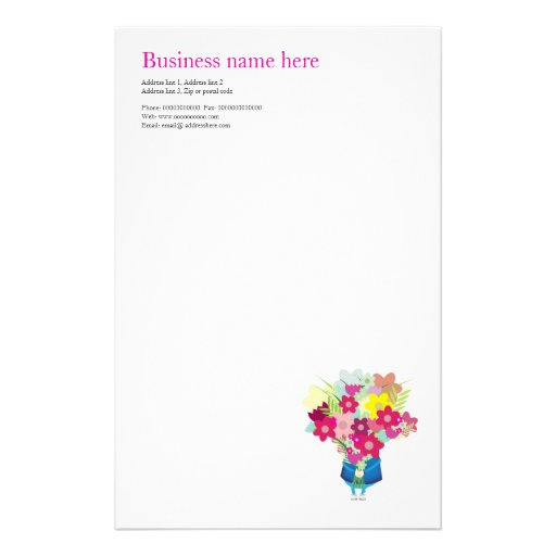 Stationery for flower business