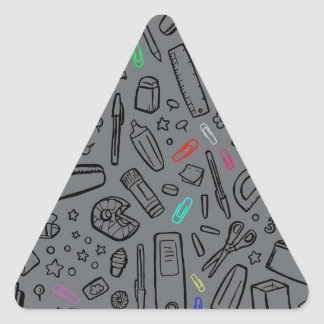 Stationery Lover Triangle Sticker
