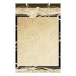 Stationery Old Paper Gold Black Floral